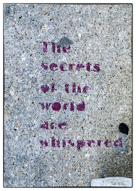 The secrets of the world are whispered
