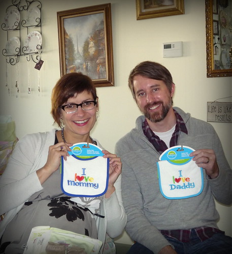20131128. Bibs from Pam. Our amazing baby shower!