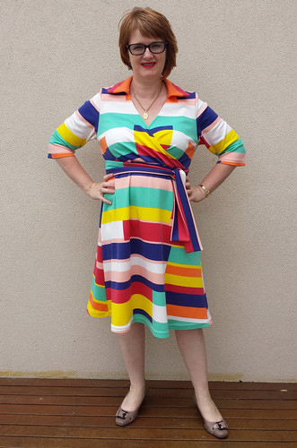 Lekala 5806 in poly/viscose/lycra knit from Darn Cheap Fabrics