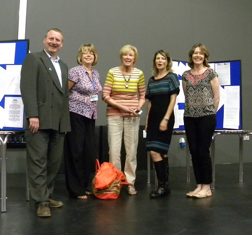 Tony and Lesley with Barbara Mitchellhill, Ruth Eastham and Caroline Green at Sefton Super Reads