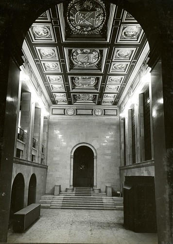 Ceiling of Shakespeare Hall, Manchester Central Library, 30 Mar 1934