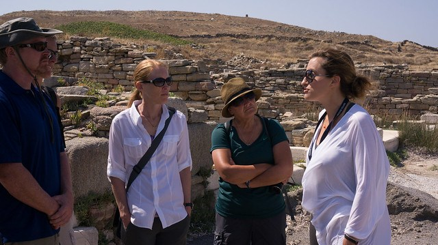 Our guide, Amarylis Grypari, on Delos