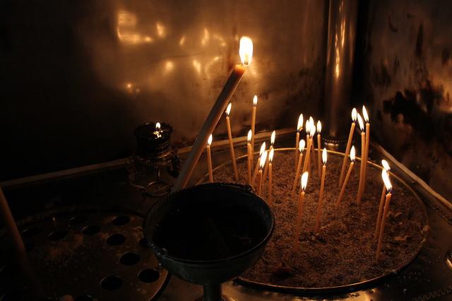 1 euro candle lighting