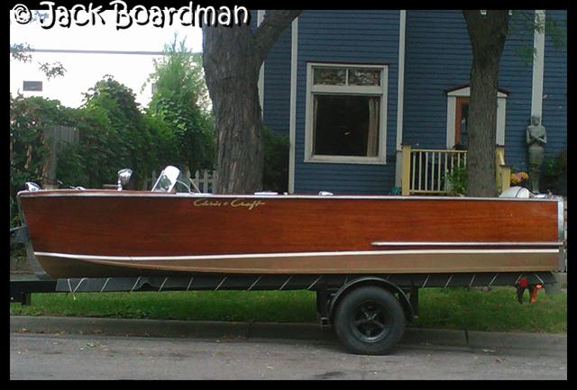 Swanson's 1952 Chris-Craft motor boat