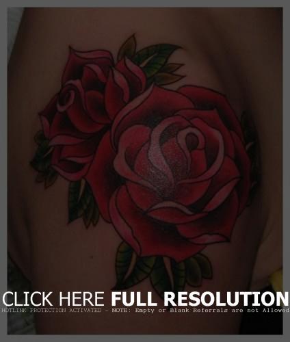 flower-rose-tattoos-arm-shoulder-ideas