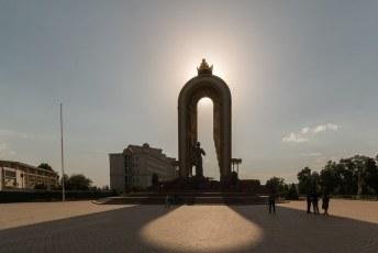 Ons tweede Ismoili Somoni monument, er zouden er nog vele volgen.