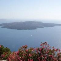 Caldera, volcano and hot spring