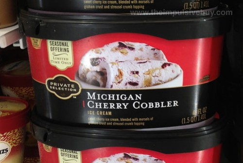 Kroger Private Selection Michigan Cherry Cobbler Ice Cream