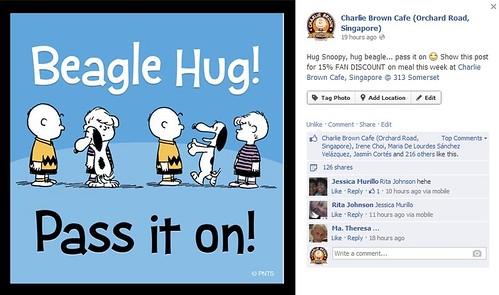 beagle hug by Charlie Brown Cafe