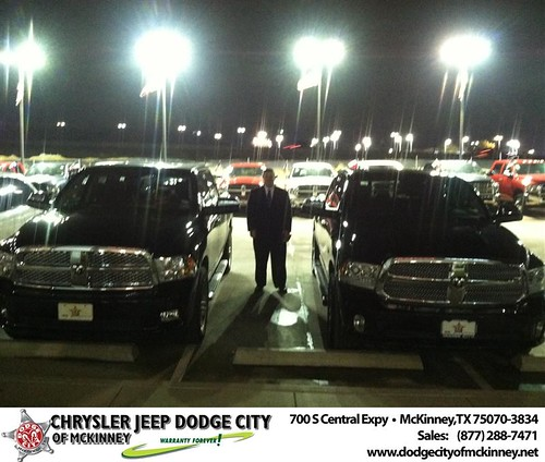 Thank you to Paul Hofland  on your new 2014 #Ram #1500 from George Rutledge and everyone at Dodge City of McKinney! by Dodge City McKinney Texas