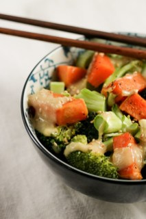 miso sweet potato and broccoli bowl [ inthiskitchen.com ]