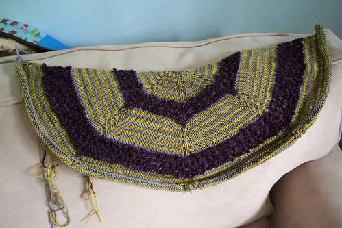 in progress :: TTL Mystery Shawl KAL 2013