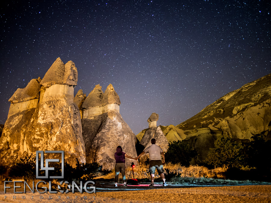 Shooting the Milky Way at Pasabagi, Goreme, Cappadocia, Turkey