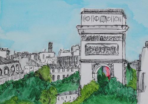 Arc de Triomphe 4th Sept 2013