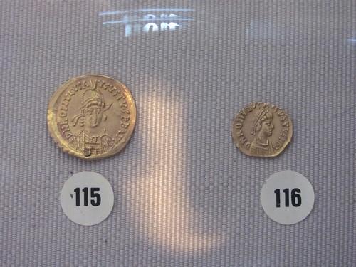 Coins from Romulus Augustulus, last Roman Emperor