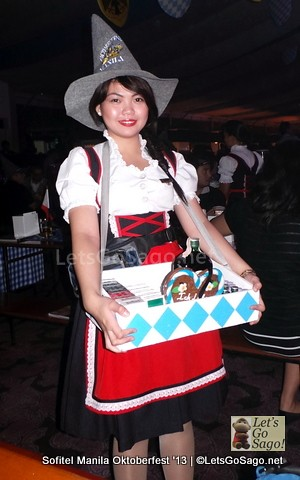 In traditional Oktoberfest attire for the ladies