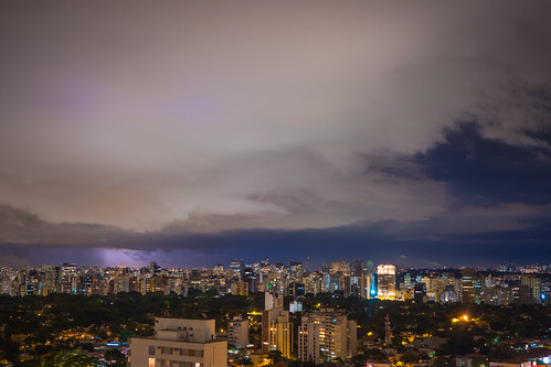 Lightning striking in Sao Paulo