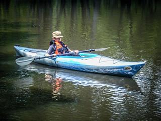 Adam in a Kayak