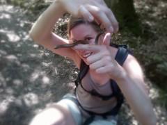 Stefanie with slow worm