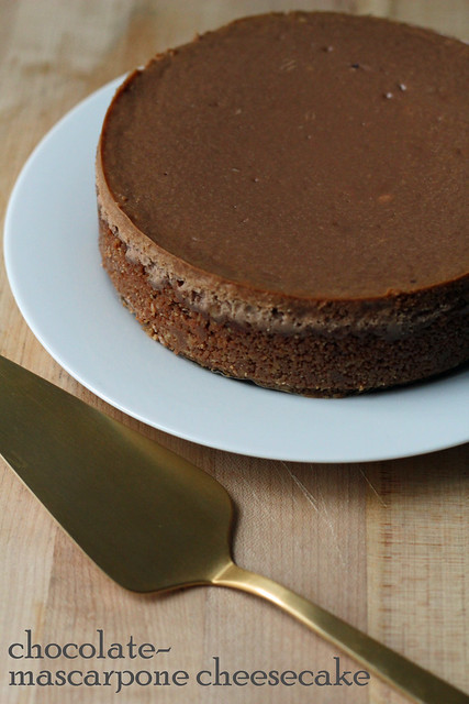 chocolate-mascarpone cheesecake