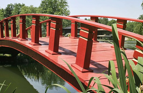 Japanese Garden: Bridge Over Completely Untroubled Waters
