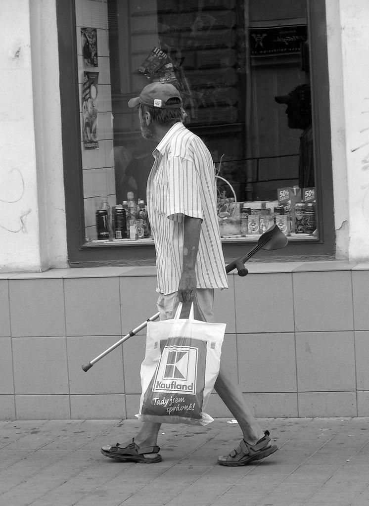 Walking Man and His Reflection