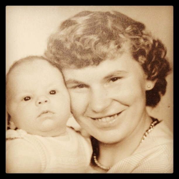 Sep 23 (catching up) - from my childhood {me & my mom} #fmsphotoaday #oldie #mom #family