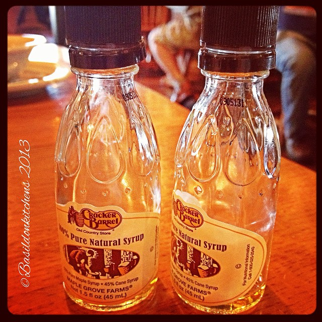 Oct 3 - left unders {??? No left overs or unders; hubby finished them all up} #photoaday #crackerbarrel #southcarolina #breakfast