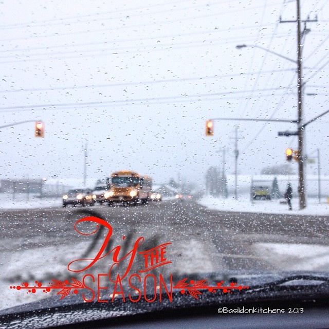 Dec 9 - this is the weather today {a mixed bag; snow, rain, freezing rain...} #fmsphotoaday #snow #rain #freezing #donotlikedriving #winter #slush #rhonnadesigns