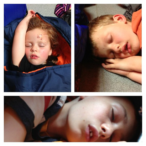 3/4 sleeping in the ferry terminal #sleeping #arran #photocollage