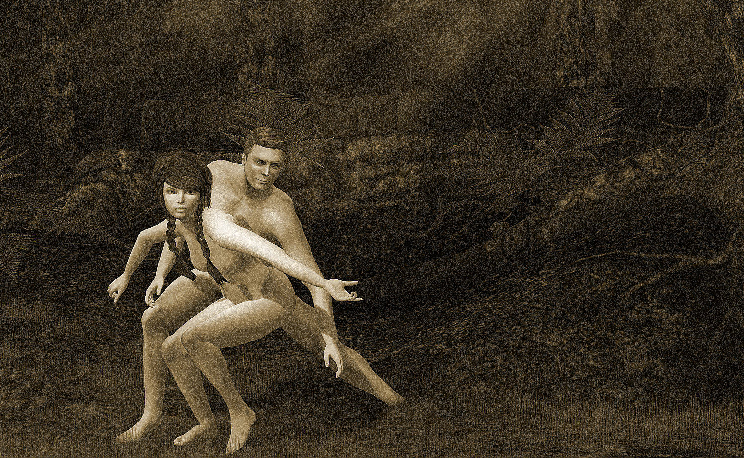 Adam and Eve by Caitlin Tobias, January 2014