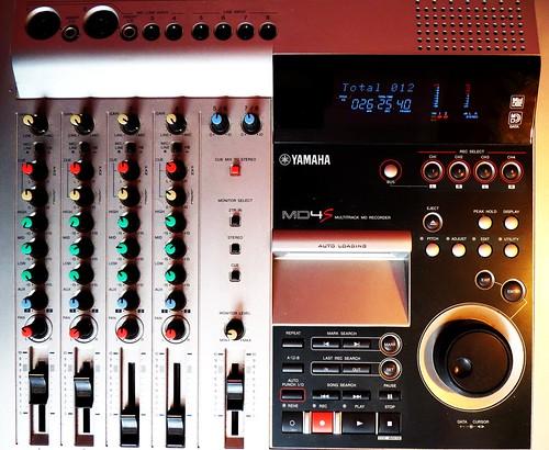 Yamaha-multitrack-recorder-MD4S
