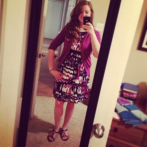 I'm very aubergine for today's #ootd, wearing the dress I wore for @kristinnveteto's wedding :)