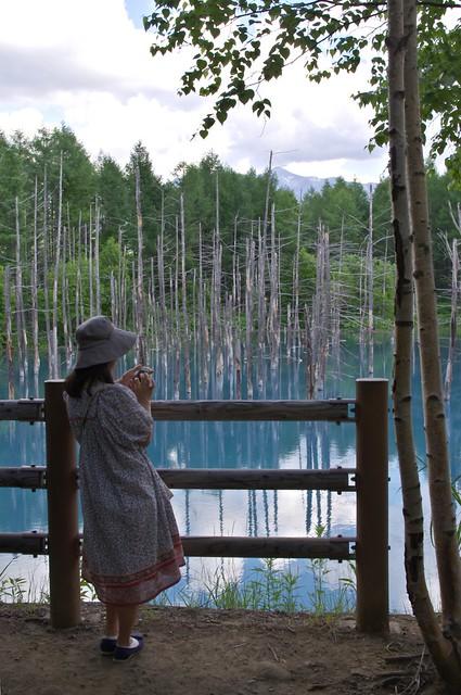 青い池にて