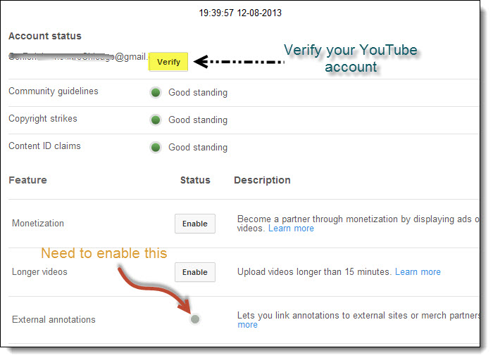 how to add clickable link to YouTube videos - YouTube Annotations