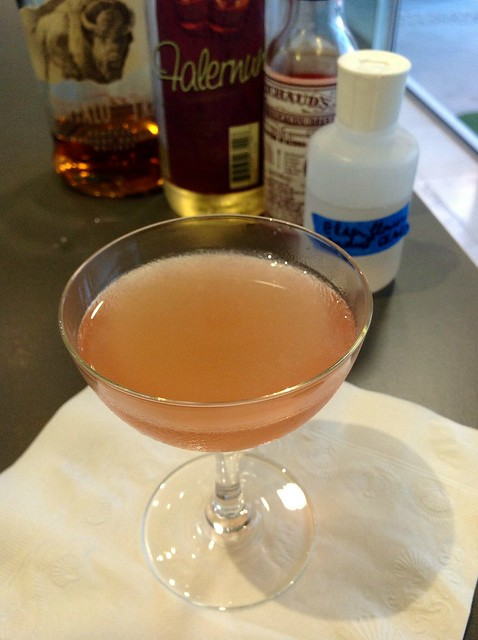 Ninth Ward (Brother Cleve): bourbon, homemade elderflower cordial, falernum, lime juice, Peychaud's bitters