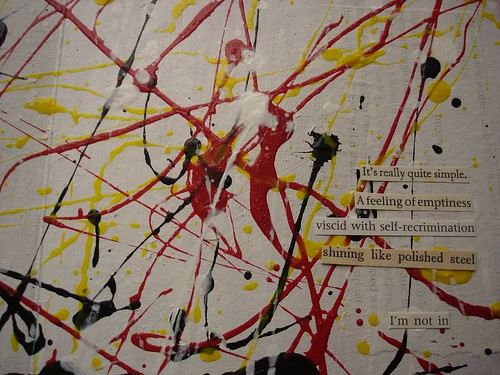 Channelling Jackson Pollock Close up