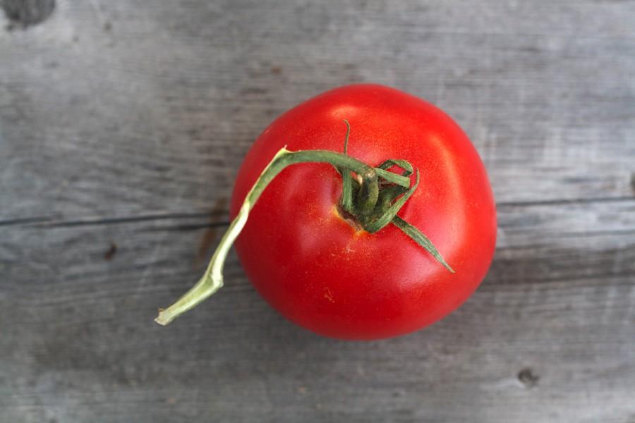 tomato above