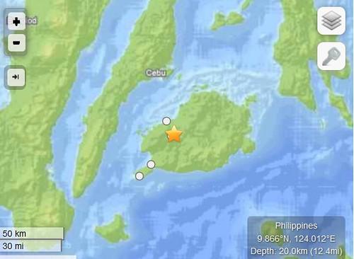 October 15, 2013 Bohol Earthquake Location and Magnitude