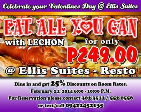 ellis suites, eat all you can