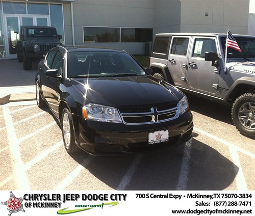 Thank you to Noel Rodriguez on your new 2014 #Dodge #Avenger from George Rutledge and everyone at Dodge City of McKinney! by Dodge City McKinney Texas