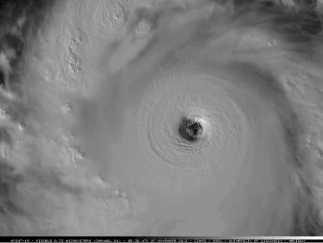 Best close-up shot of before it made landfall early this morning.