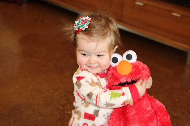 Harper loves Elmo