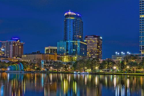 Lake Eola Park, City of Orlando, Orange County,Florida, USA