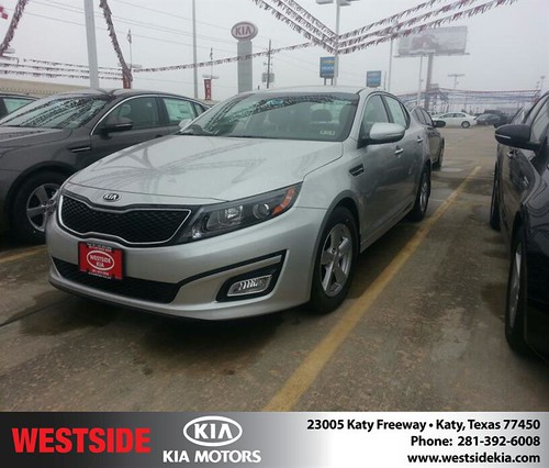 Thank you to Michelle Mckenzie on your new 2014 #Kia #Optima from Rubel Chowdhury and everyone at Westside Kia! #NewCarSmell by Westside KIA
