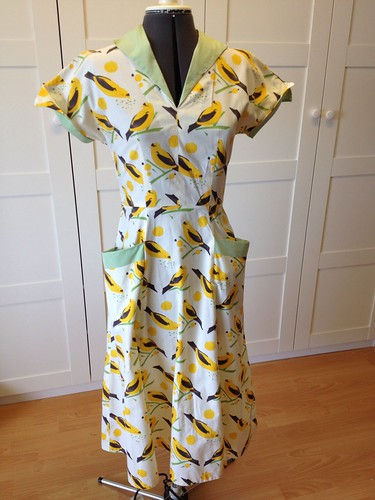 yellow bird dress