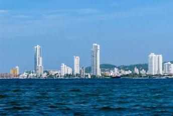 De skyline van de wijk Boca Grande.