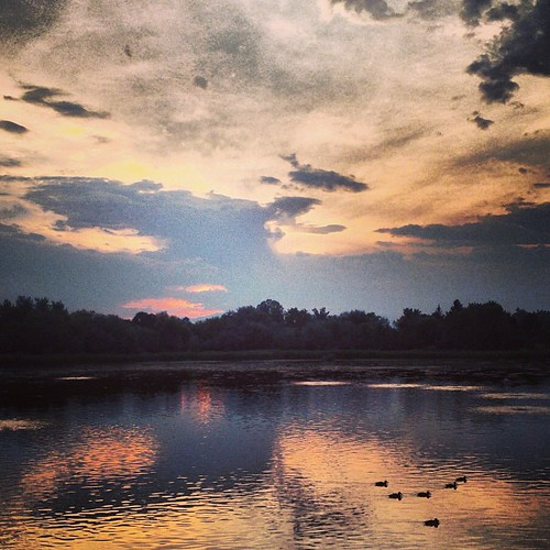 #sunset at Croke Reservoir by @MySoDotCom