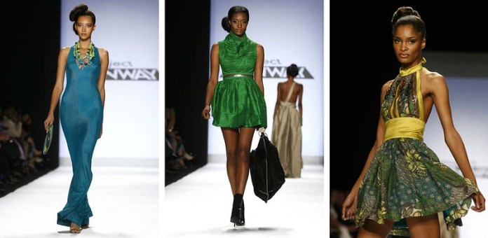 Korto Momolu designs during the season finale of Project Runway during New York Fashion Week September 2008.