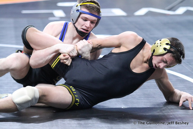 132 - Adam McSorley (Hastings) over Sebas Swiggum (Apple Valley) Dec 5-0